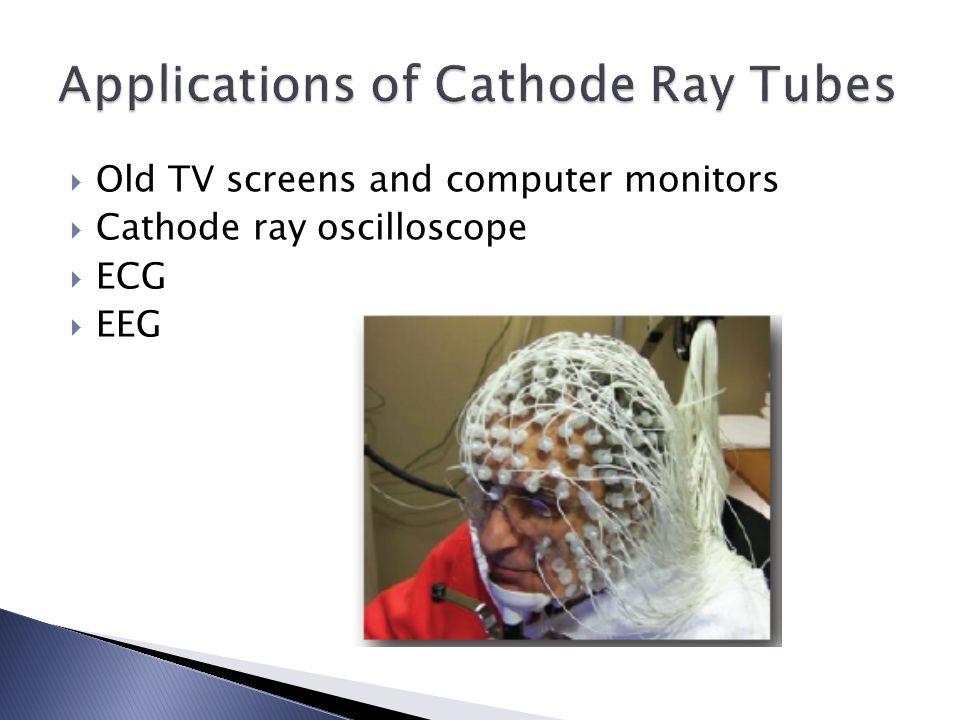  Old TV screens and computer monitors  Cathode ray oscilloscope  ECG  EEG