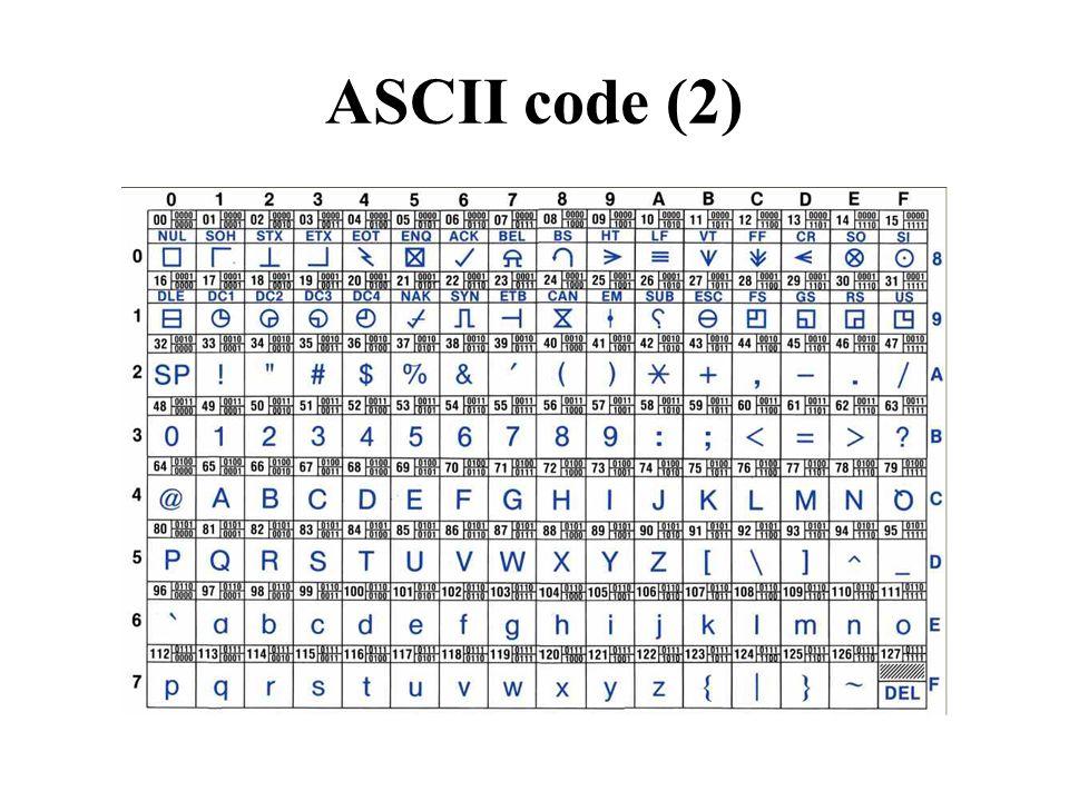 ASCII code (2)
