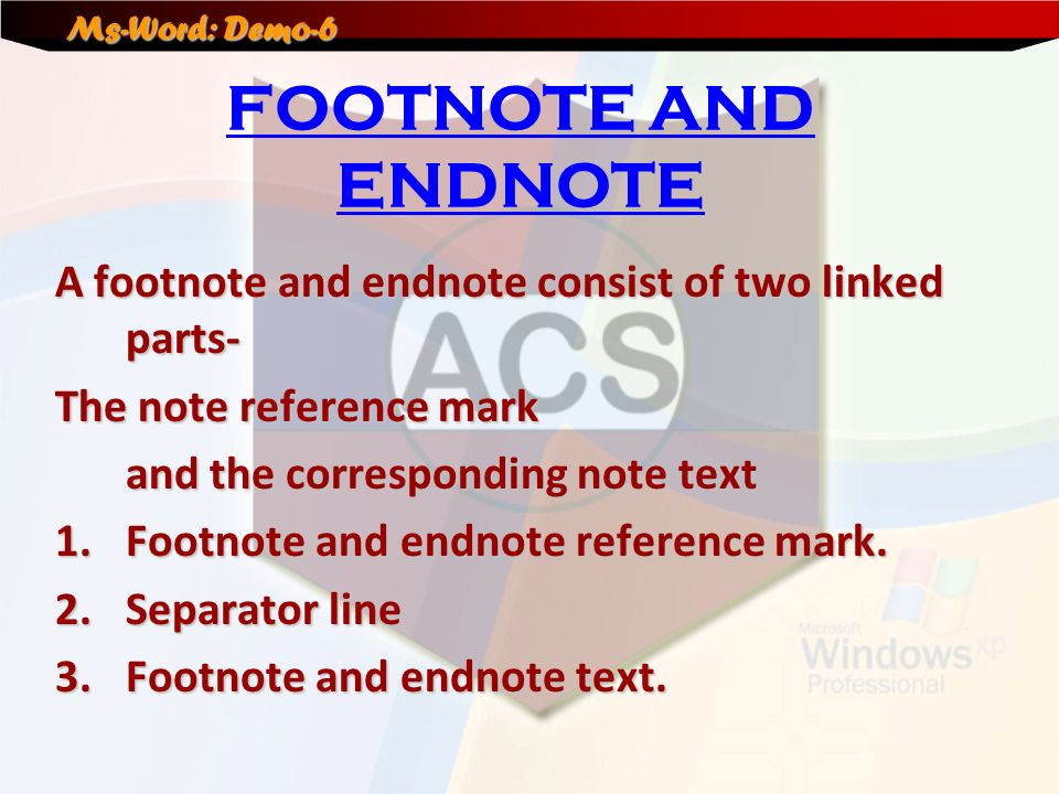 endnotes reference