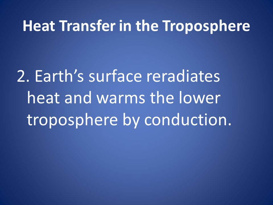 Heat Transfer in the Troposphere 2.