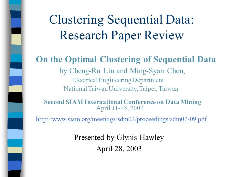 data mining thesis paper Data mining process involves discovering and identifying techniques in large data sets by companies it is a very good topic for research and thesis web mining is an application of data mining and an important topic for research and thesis it is a technique to discover patterns from www ie world.