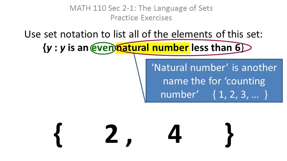 what is another name for the set of counting numbers