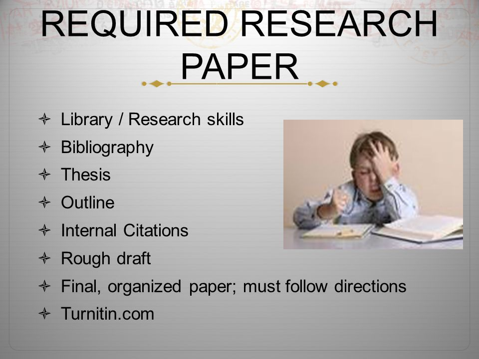 requirements for a research paper