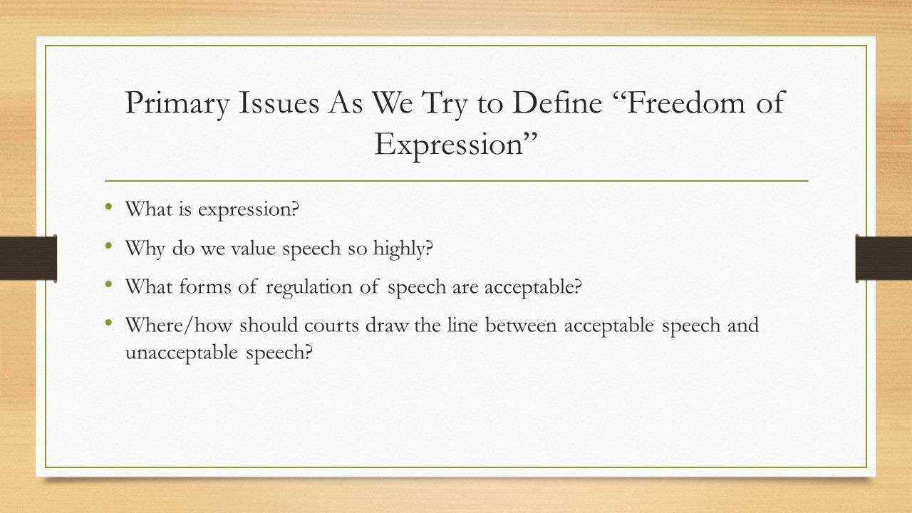 media regulation vs freedom of expression The end of press freedom n debates on media regulation often refer to the principle of 'press freedom' press freedom vs freedom of expression.