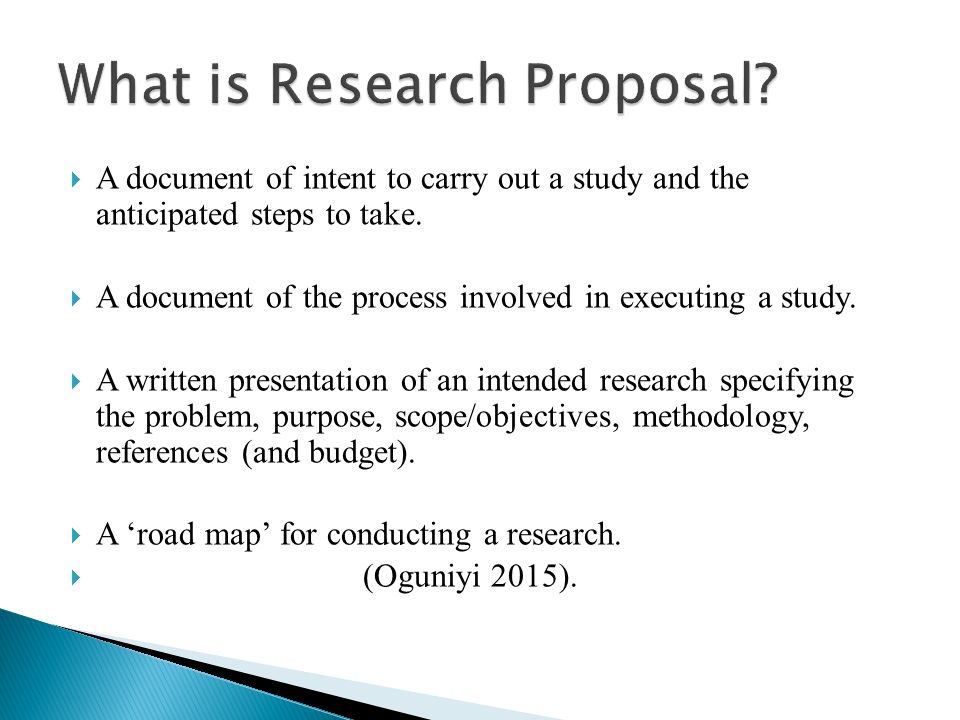 Writing An Academic Research Proposal