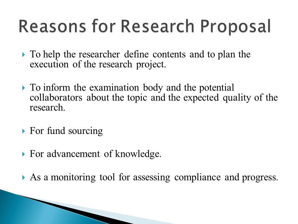 Format Of A Research Proposal With Examples