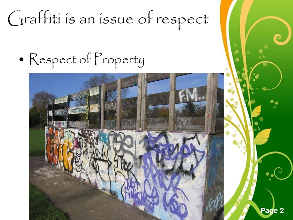 Free powerpoint templates page 1 free powerpoint templates 2 free powerpoint templates page 2 graffiti is an issue of respect respect of property toneelgroepblik Image collections