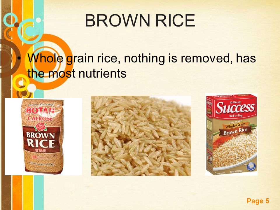 Free powerpoint templates page 1 starter describe the difference 5 free powerpoint templates page 5 brown rice whole grain rice nothing is removed has the most nutrients toneelgroepblik Choice Image