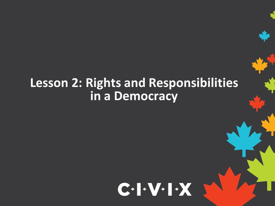 Lesson 2: Rights and Responsibilities in a Democracy