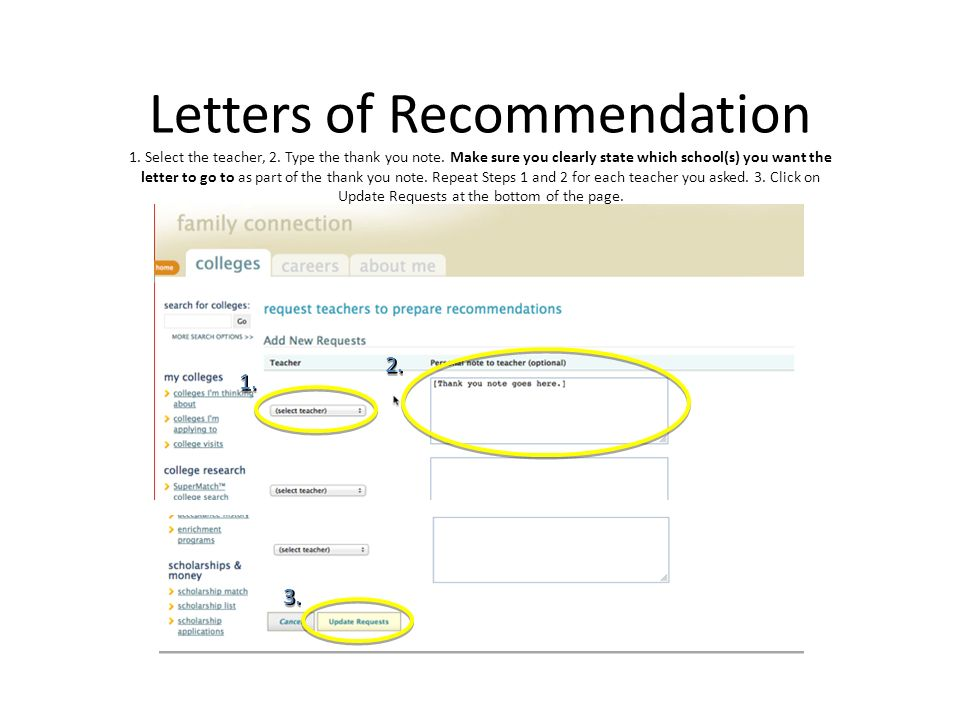 Common App Letter of Rec. HELP?