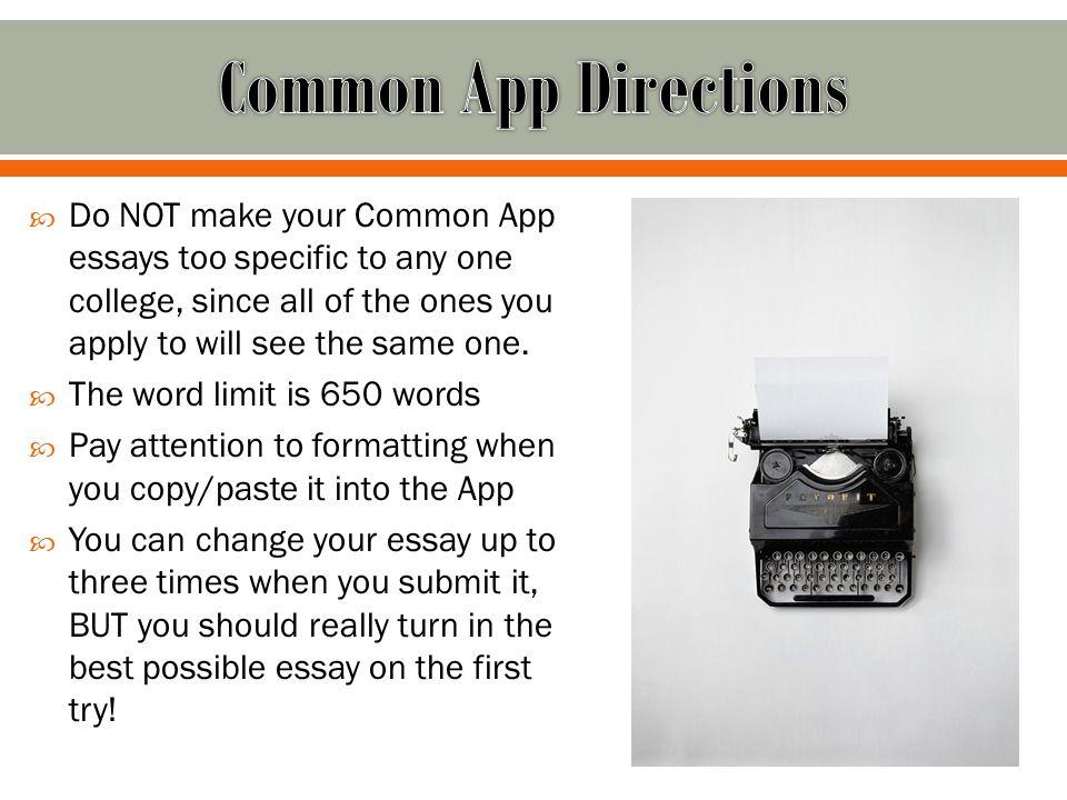 Common App Short Essay