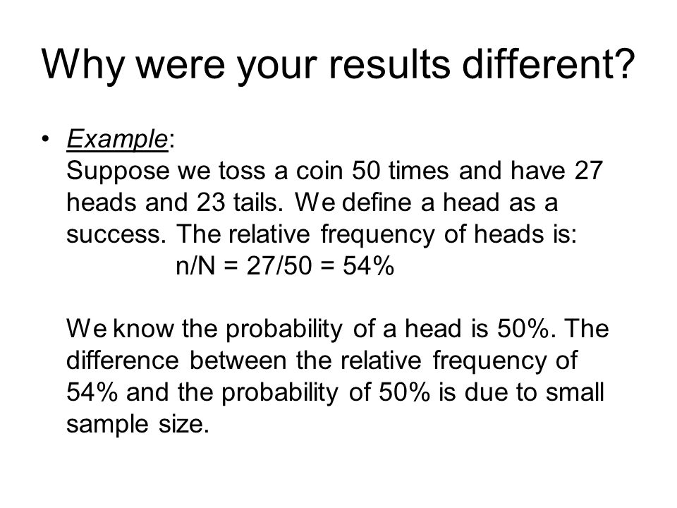Why were your results different.