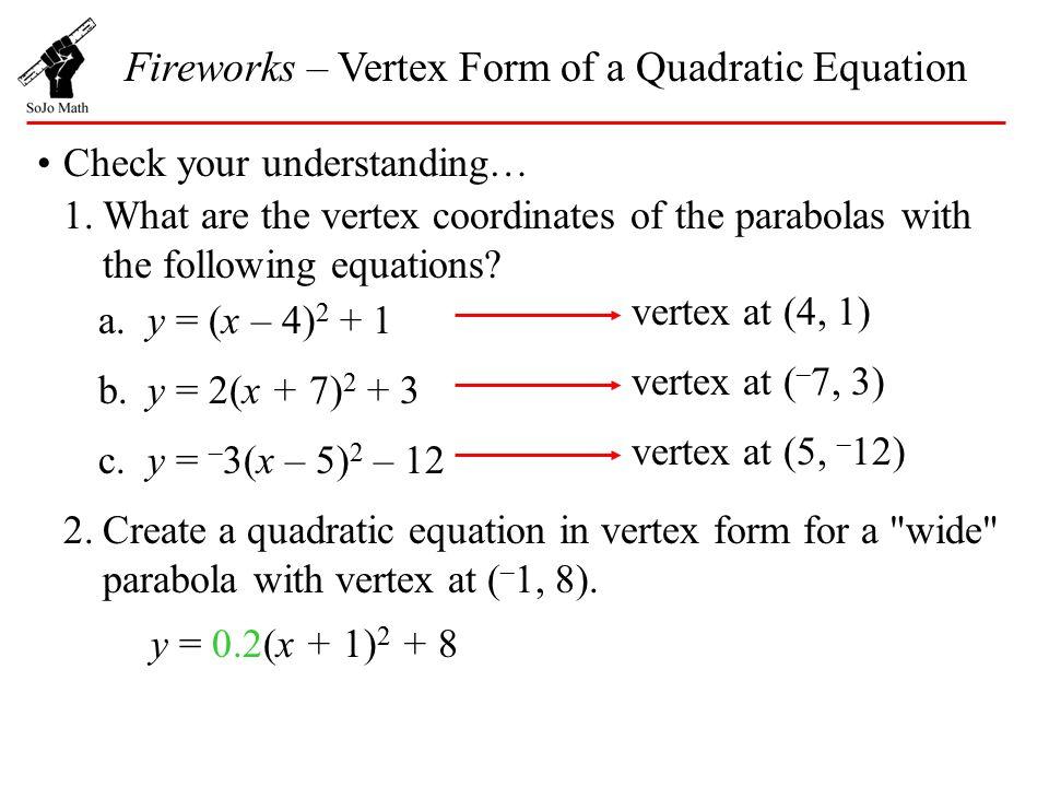 Rewriting Quadratic Equations In Vertex Form Calculator - Jennarocca