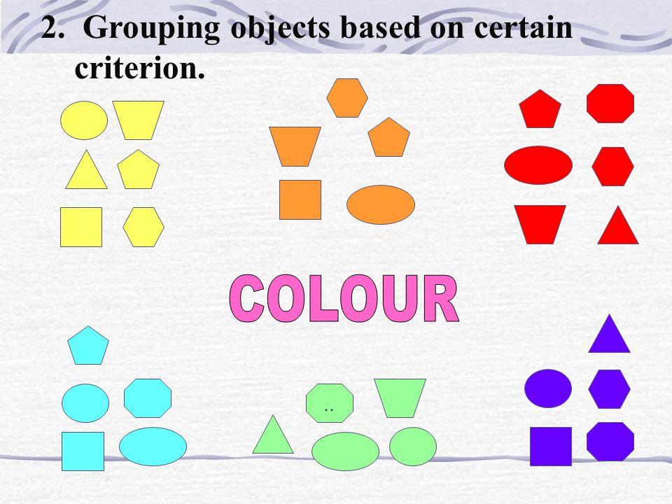 1.Detecting similarities. Same shape Same Colour