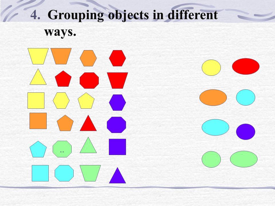 3. Using other criterion in grouping objects...