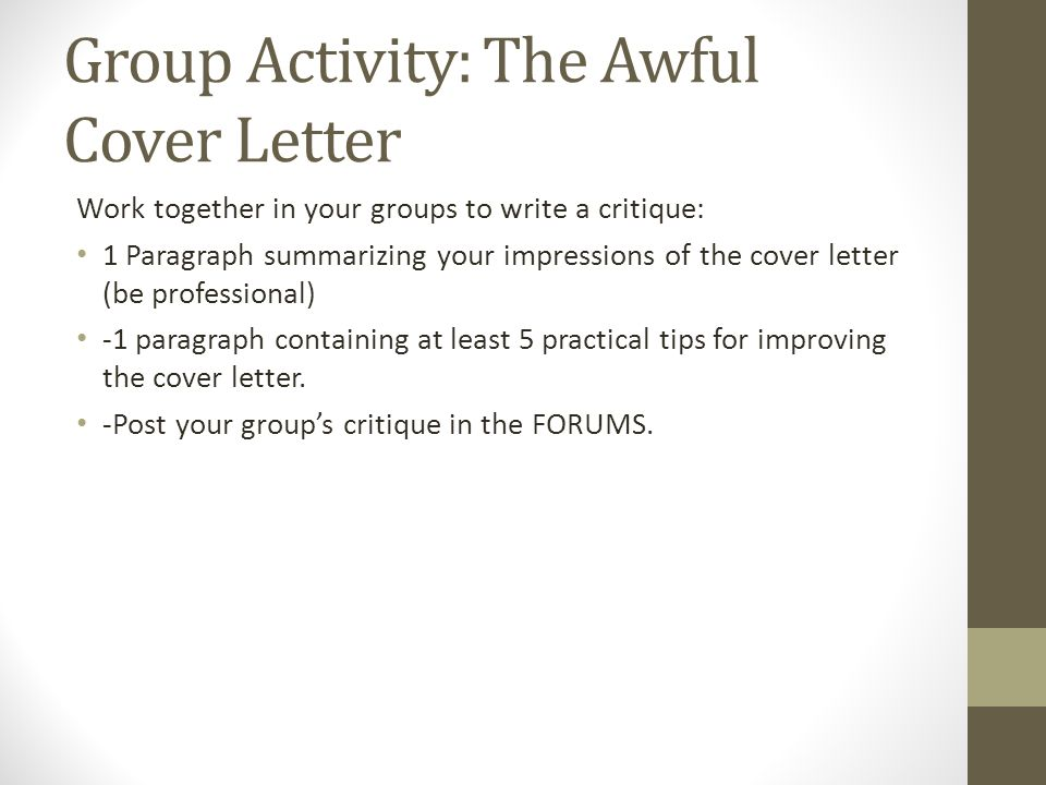 Writing Cover Letters 9/4/2015. Announcements Feeder 3 (Cover letter ...