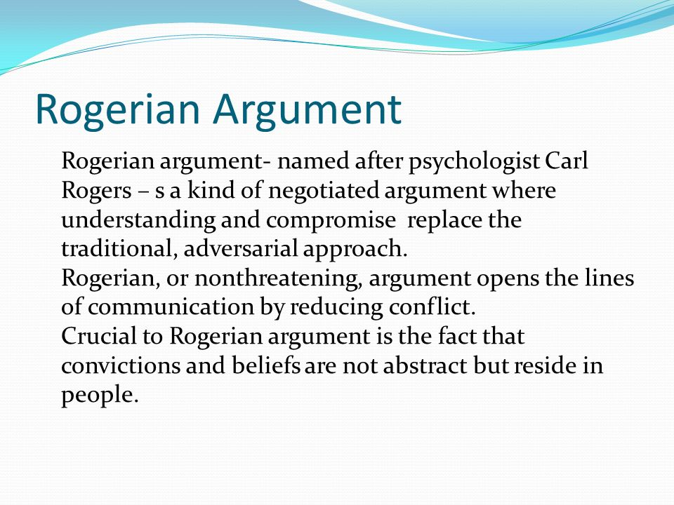 argument essays terms argument in academic writing an argument  15 rogerian argument