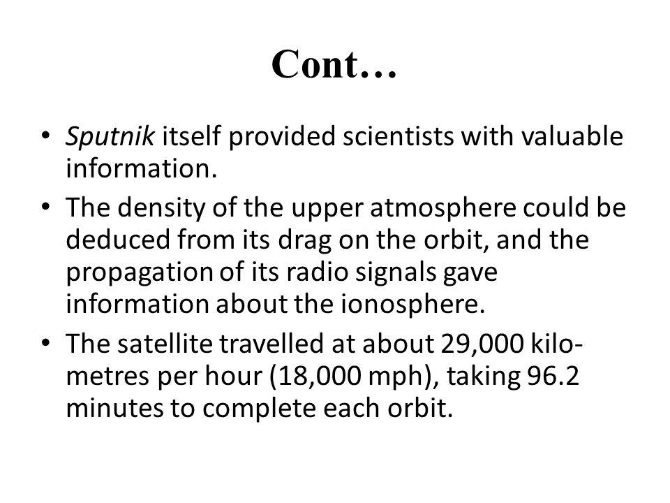 sputnik 1 information