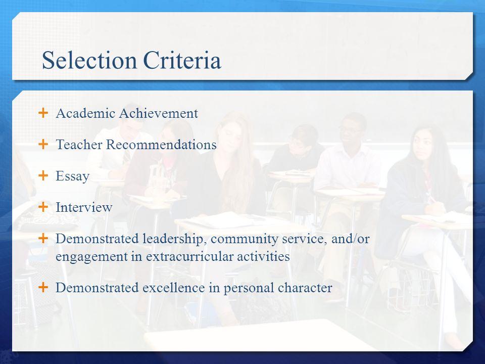 Academic Achievements Essay