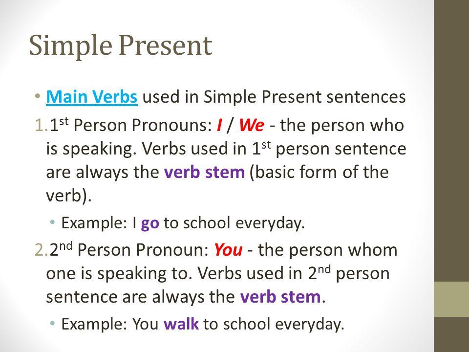 Present Tense Simple Present & Present Progressive/Continuous ...
