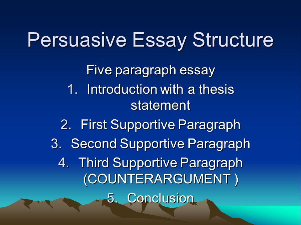 Help with an opening sentence (persuasive essay)?