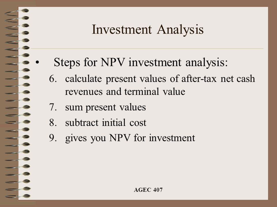 Agec 407 Investment Analysis Time Value Of Money –$1 Received