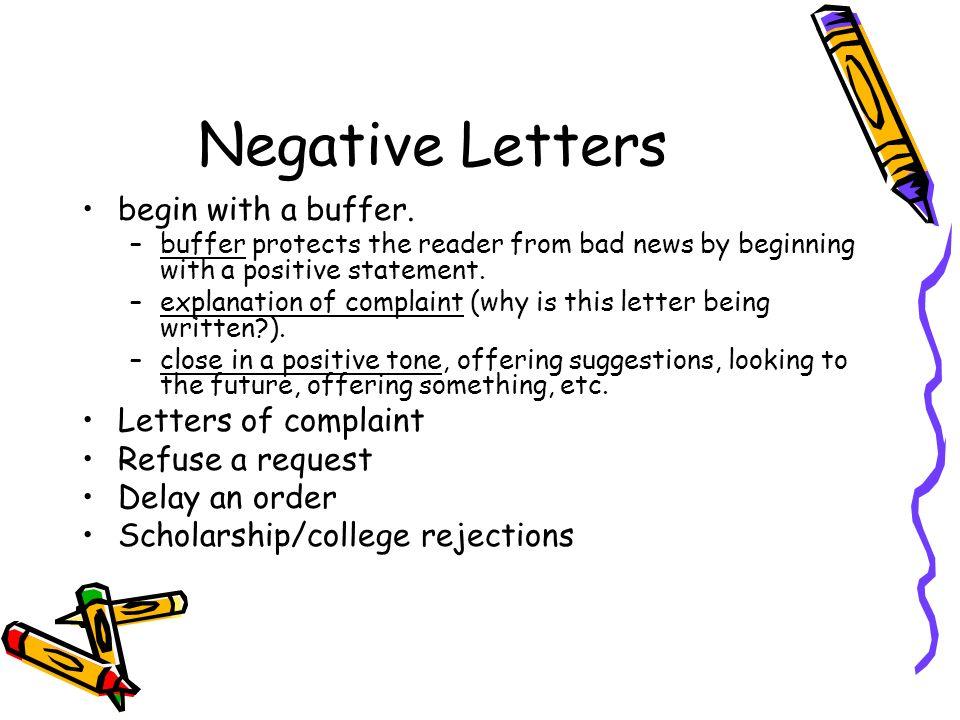 negative letter essay