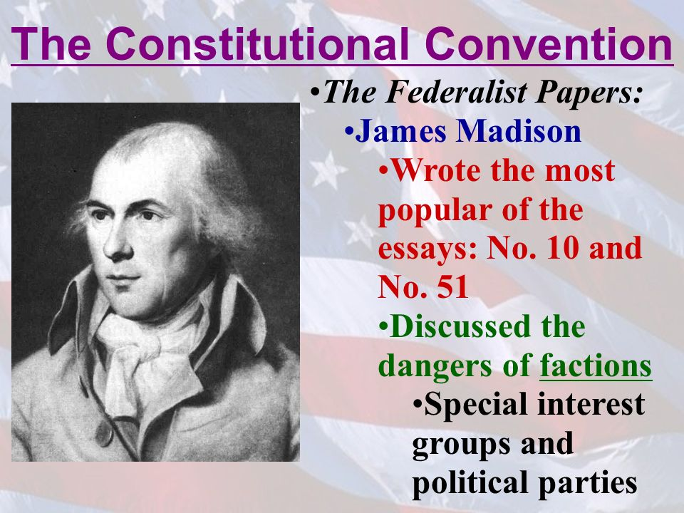 james madison federalist papers Learn how james madison played a key role in the context of the federalist papers 10 and 51 read a biography and get in-depth analysis.