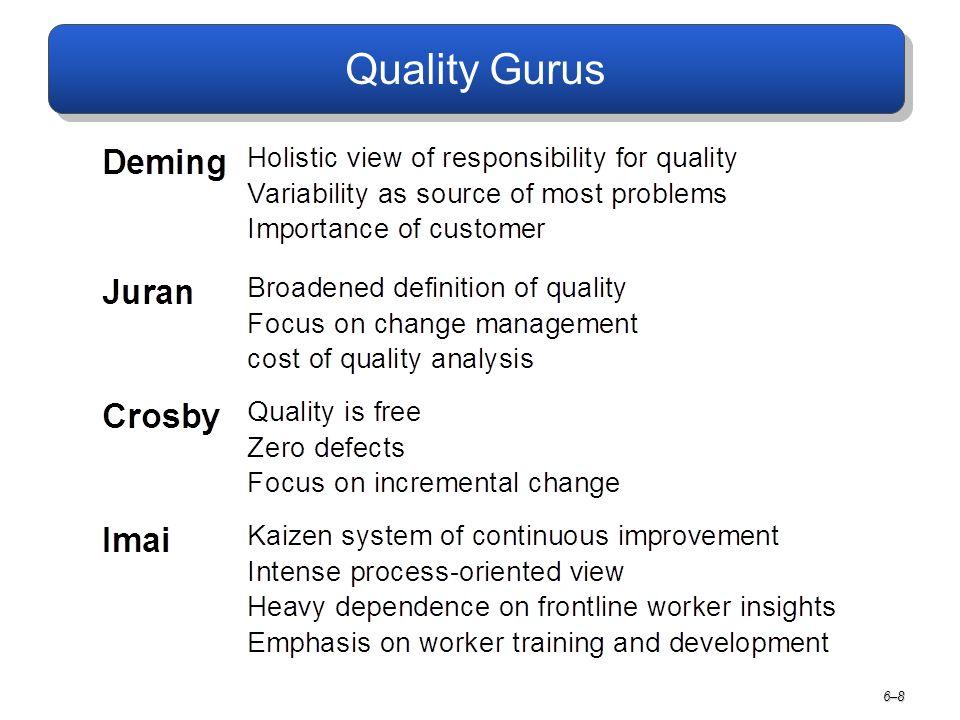 Quality Gurus 6–8