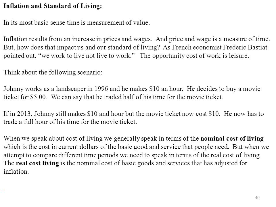 how to measure wage for living standards