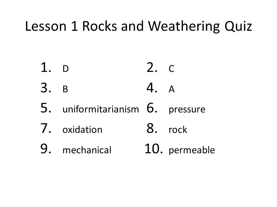 Earth's Surface Chapter 2 Weathering and Soil 1.Review and ...