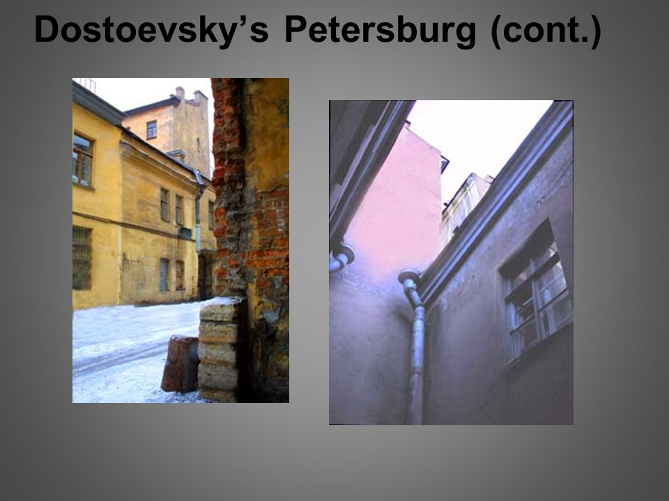 What are two passages in Crime and Punishment written by Fyodor Dostoevsky to compare and contrast?