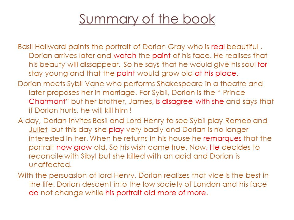 dorian grey summary