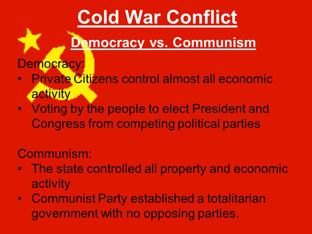 a comparison of the communist and democratic forms of goverment Communism: you have two cows the government seizes both and provides you pure democracy: then it requires you to fill out forms accounting for the missing.