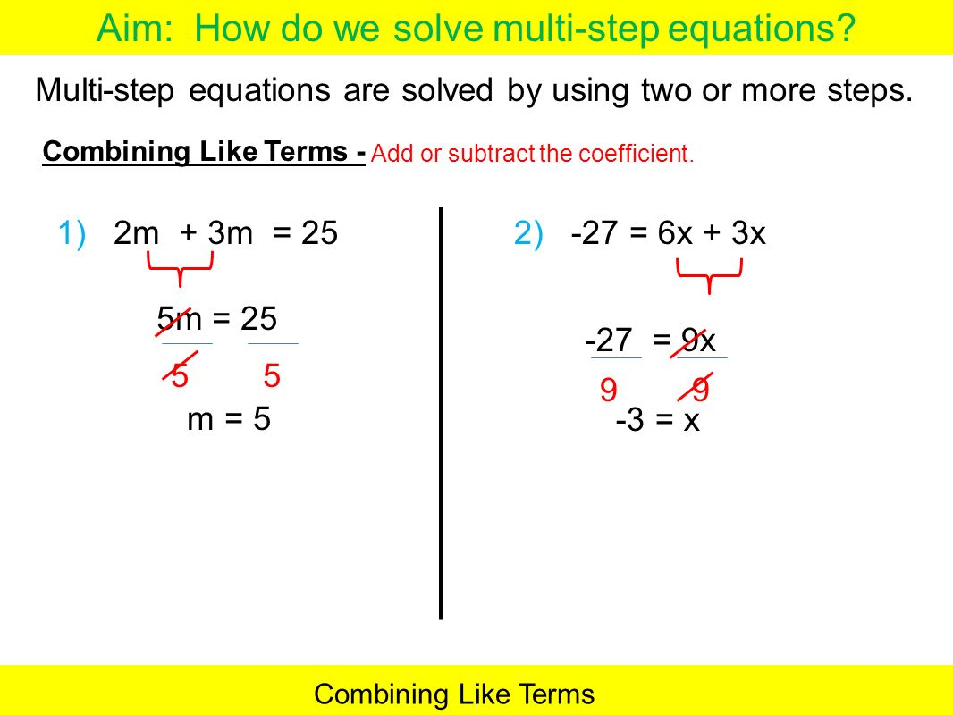 worksheet Multi Step Equations multi step equations steps talkchannels aim how do we solve now write the