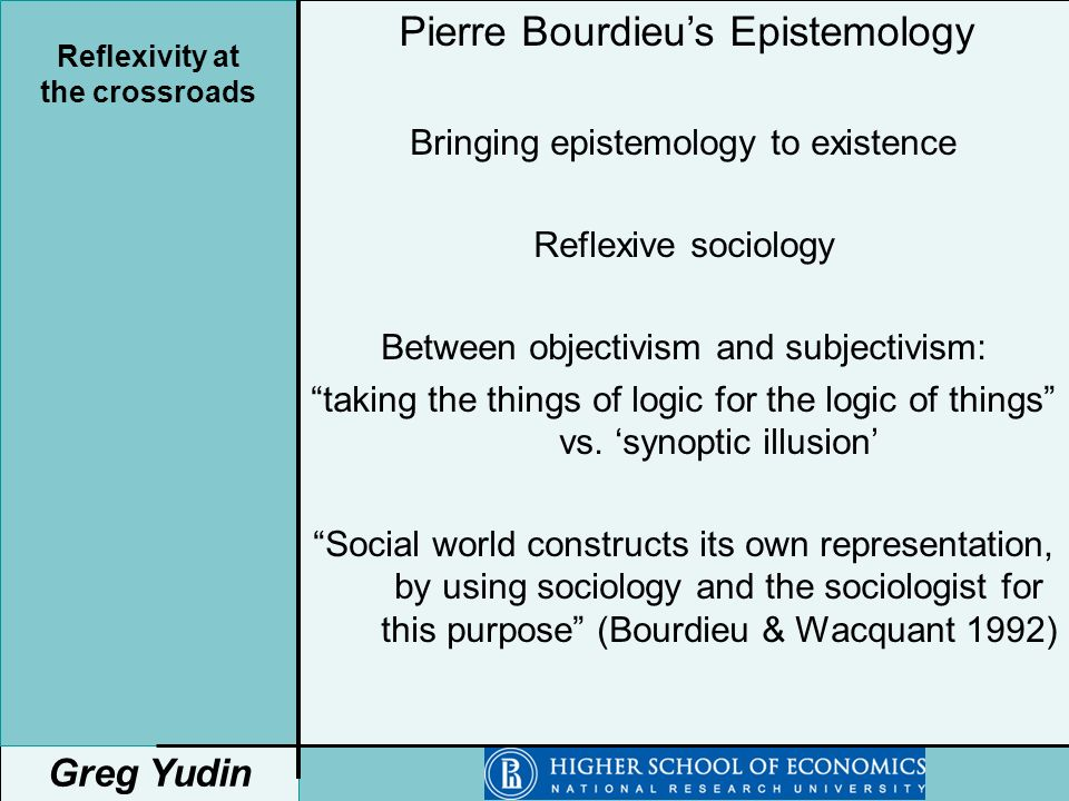 Knowledge reflexive scientific sociology thesis wrighting