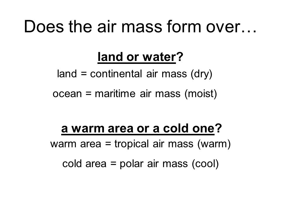 Air Masses & Fronts. - ppt download