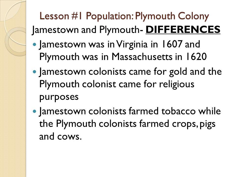 plymouth better than jamestown