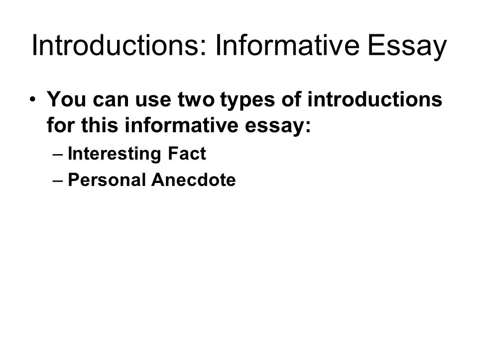 explain the various types of essay