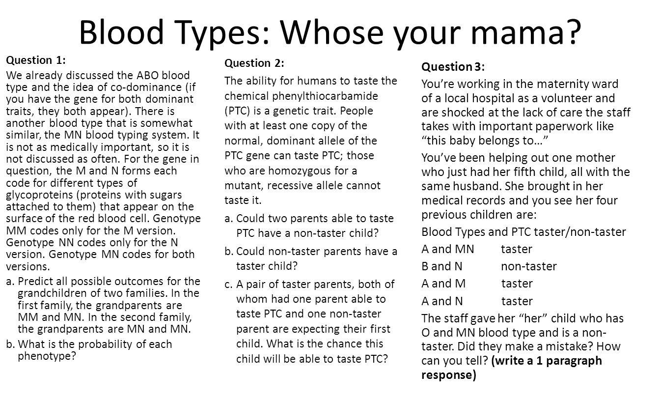 worksheet Codominance Worksheet Blood Types codominance worksheet blood types incomplete multiple alleles worksheet