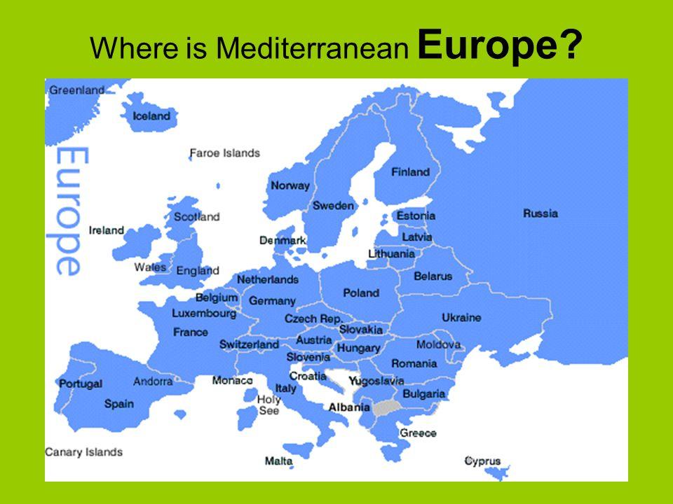 Where Is Mediterranean Europe Region Mediterranean Europe Aka - Where is andorra