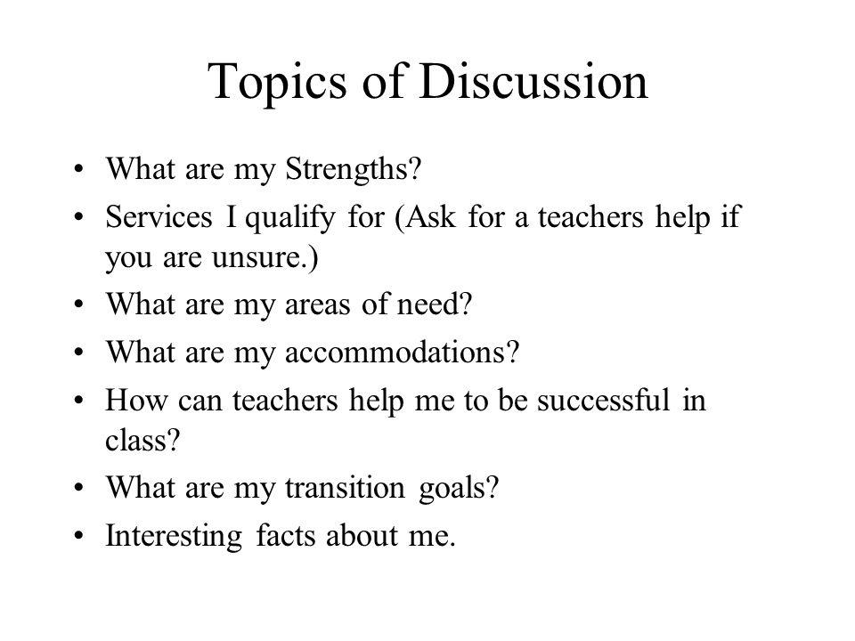 Interesting topics