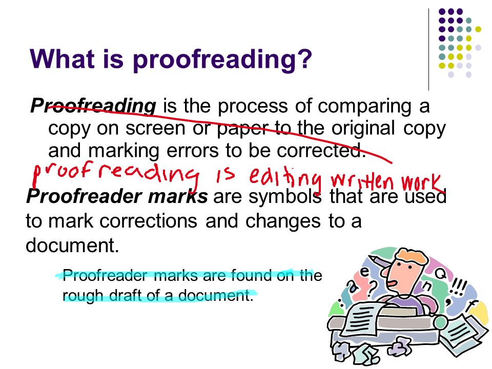 What is proof reading