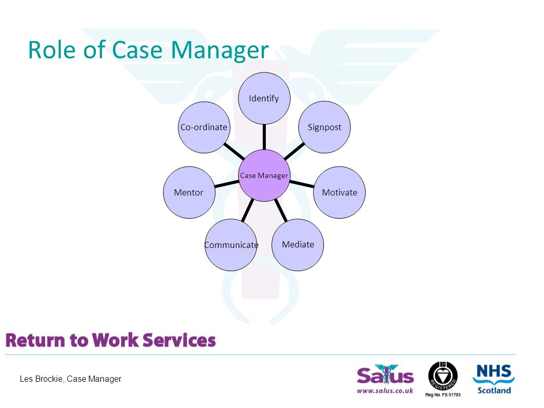 les brockie, case manager salus return to work services (srtws, Sphenoid