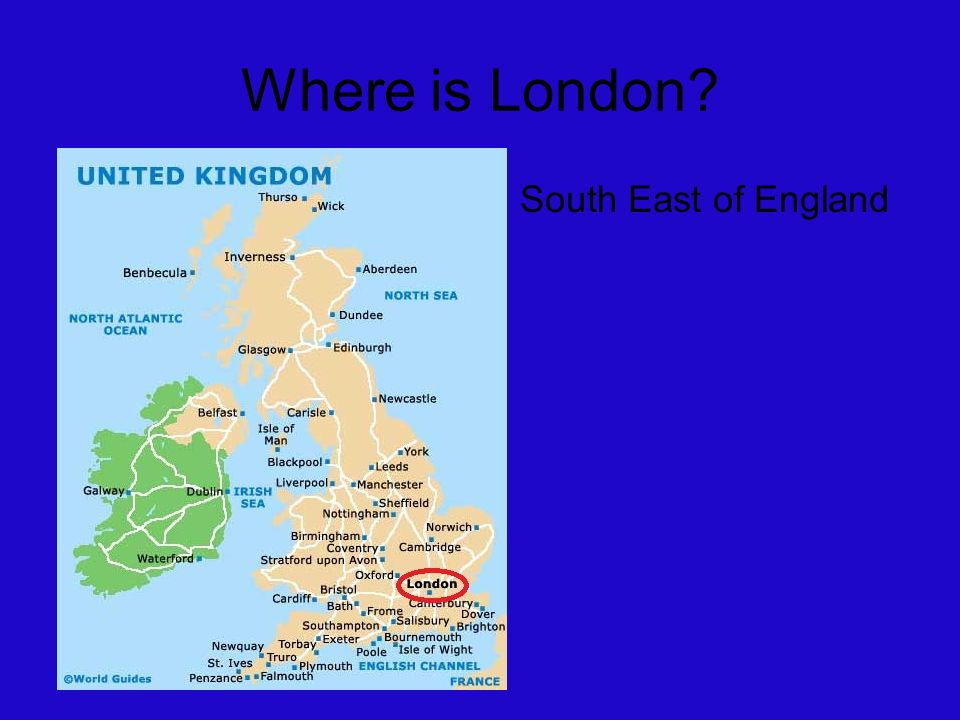 London Where Is London South East Of England KEY FACTS The - Where is london