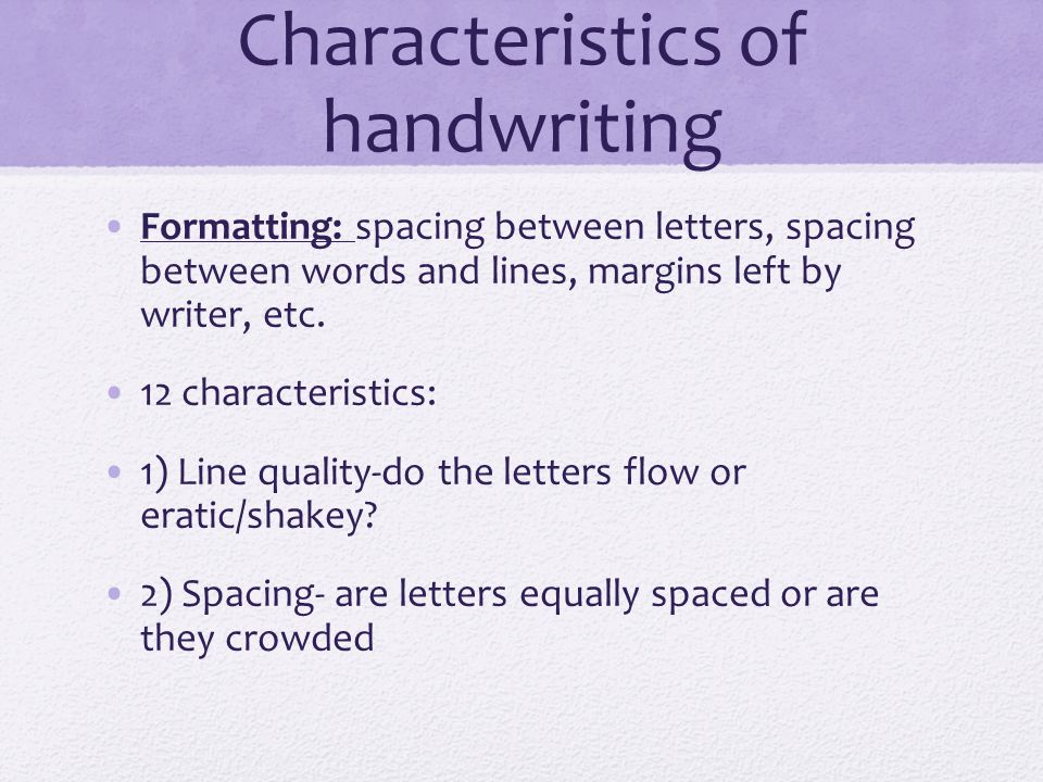 characteristics of writing Features of academic writing introduction try thisexercise academic writing in english is linear, which means it has one central point or theme with every part contributing to the main line of argument, without digressions or repetitions.