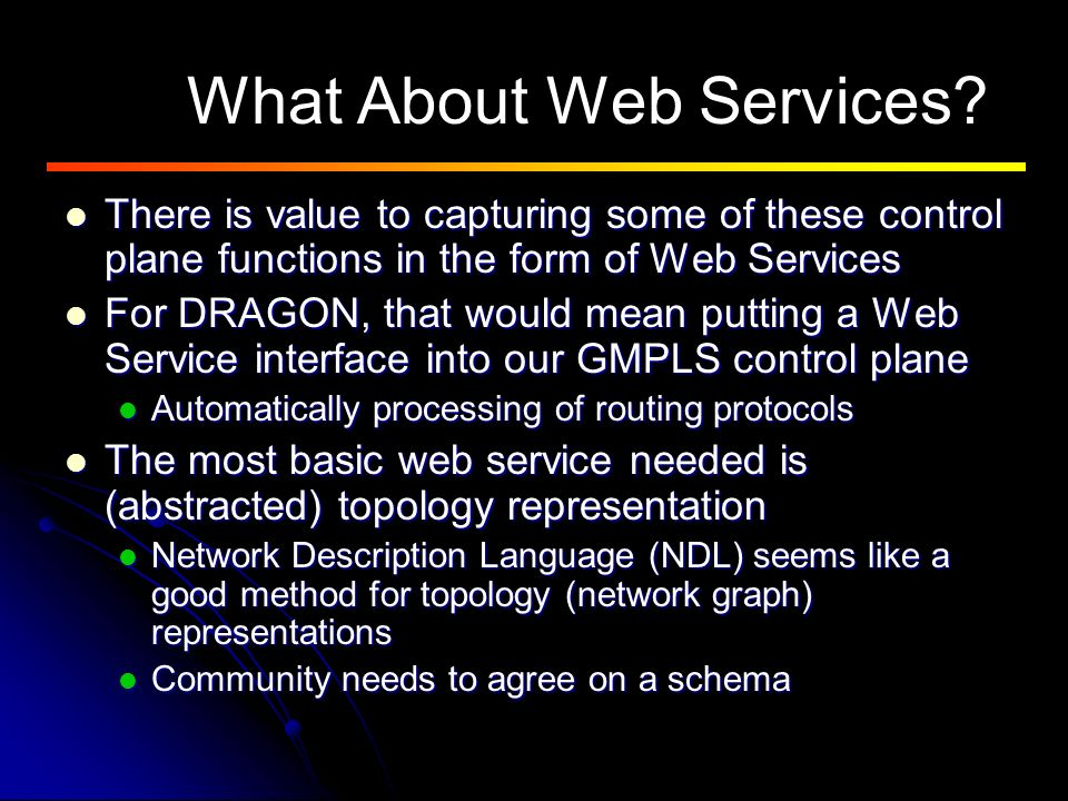 What About Web Services.