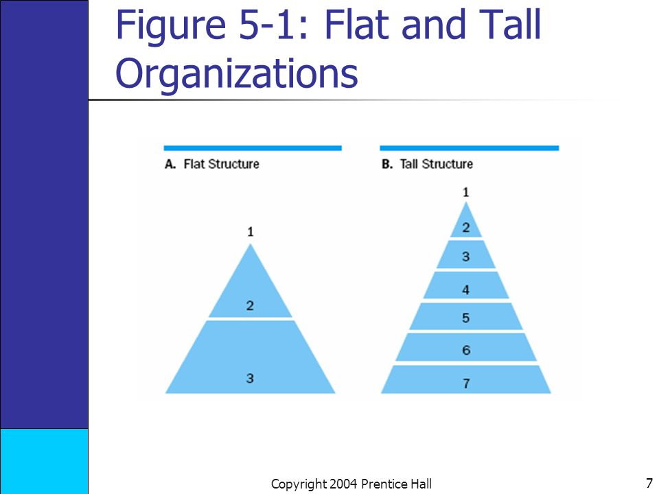 8 Copyright 2004 Prentice Hall Research on the Relationship between Size and Hierarchy By the time an organization has 1,000 members, it has 4 levels in its hierarchy.