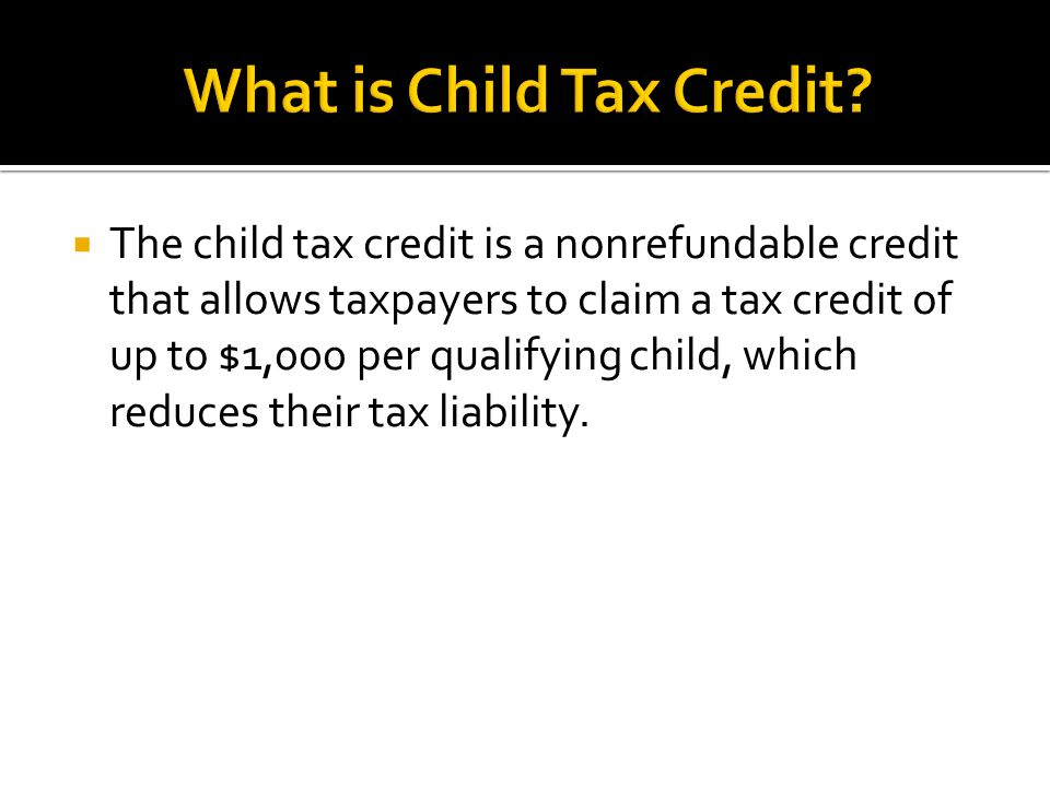 The child tax credit is a nonrefundable credit that allows – Additional Child Tax Credit Worksheet