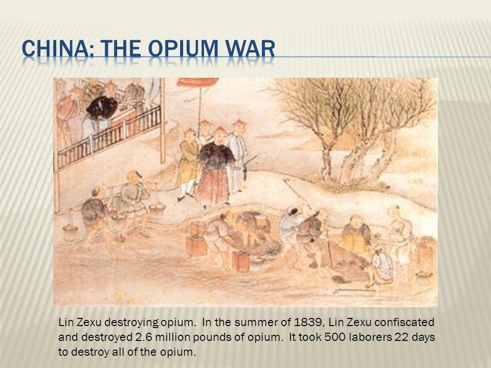 Lin Zexu destroying opium.